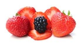 Куча ежевик и strawbeeries Стоковая Фотография RF