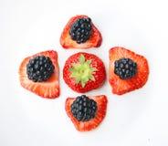 Куча ежевик и strawbeeries Стоковое фото RF