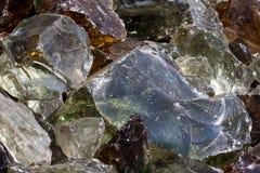 Куча декоративных частей стекла. Стоковое Изображение