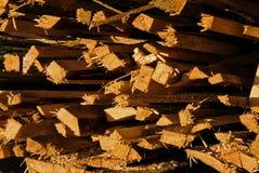 Куча деревянных кольев Стоковое Изображение