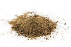Куча желтого сахарного песка Mascavo Стоковые Изображения RF