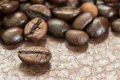 Куча зажаренного в духовке кофейного зерна Стоковые Фото