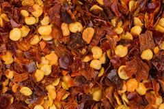Куча задавленного красного перца Стоковая Фотография