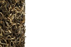 Куча зеленого чая изолированная на белой предпосылке стоковое изображение rf