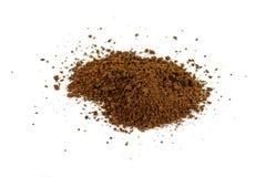 Куча зерен растворимого кофе польза кофе предпосылки готовая Стоковые Изображения