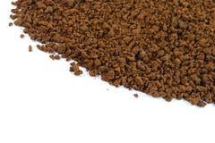 Куча зерен растворимого кофе польза кофе предпосылки готовая Стоковая Фотография