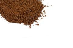 Куча зерен растворимого кофе польза кофе предпосылки готовая Стоковое Изображение
