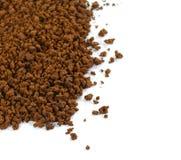 Куча зерен растворимого кофе польза кофе предпосылки готовая Стоковая Фотография RF
