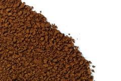 Куча зерен растворимого кофе польза кофе предпосылки готовая Стоковое фото RF