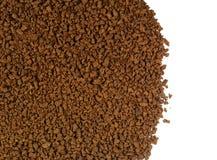 Куча зерен растворимого кофе польза кофе предпосылки готовая Стоковые Фотографии RF