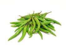 Куча зеленых перцев chili стоковое фото rf
