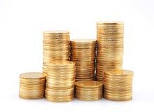 Куча золотистых монеток Стоковое Изображение RF