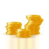 Куча золотых монеток Стоковое Изображение RF