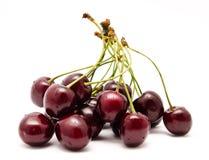 Куча зрелой сладостной изолированной вишни Стоковое Изображение