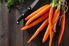 Куча зрелых морковей Стоковое Изображение
