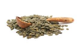 Куча изолированных семян тыквы Стоковое фото RF