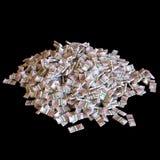 Куча изолированных банкнот евро (самого лучшего схематического изображения дела) Стоковое фото RF