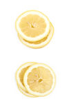 Куча изолированных кусков лимона Стоковые Фото