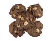 Куча изолированных печений шоколада Стоковая Фотография RF