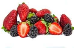 Куча изолированных ягод Стоковые Изображения RF