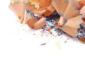 Куча изолированных shavings карандаша Стоковая Фотография