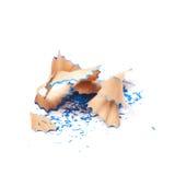 Куча изолированных shavings карандаша Стоковое Изображение