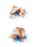 Куча изолированных shavings карандаша Стоковые Фотографии RF