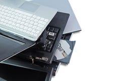 Куча использованный компьтер-книжки сломанные или повреждение Стоковые Фотографии RF