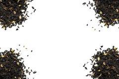Куча 4 листьев чая на белой предпосылке Стоковое Фото