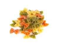 Куча итальянского farfalle макаронных изделий Стоковые Фото