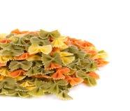 Куча итальянского farfalle макаронных изделий Стоковое Изображение RF