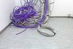 Куча кабелей будущий диспетчерский пункт Стоковые Изображения RF