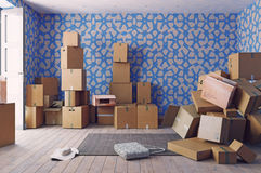 Куча картонных коробок Стоковые Фото