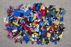 Куча кирпичей Lego Стоковая Фотография RF