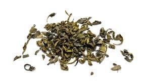 Куча китайского зеленого чая изолированного на белизне Стоковая Фотография RF