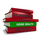 Куча книг - хороших здоровий Стоковые Фотографии RF