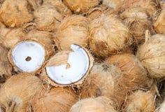 Куча кокосов на счетчике Стоковое фото RF