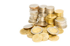 Куча колонок монеток Стоковое фото RF
