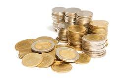 Куча колонок монеток Стоковое Фото