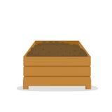 Куча компоста в деревянной коробке Стоковые Изображения RF