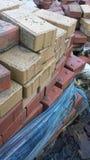 куча конструкционные материал здания кирпичей Стоковые Фотографии RF