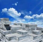 куча конструкционные материал здания кирпичей Стоковые Фото