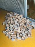 куча конструкционные материал здания кирпичей Стоковое Фото