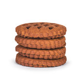 Куча коричневых печений шоколада с вареньем Стоковые Фотографии RF