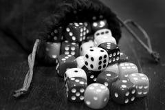 Куча кости для игры играя в азартные игры и играя случайные игры Стоковое Изображение