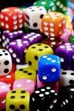 Куча кости для игры играя в азартные игры и играя случайные игры Стоковое фото RF