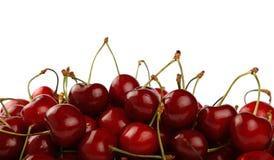 Куча красной сладостной вишни изолированной на белизне Стоковая Фотография RF