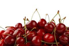 Куча красной сладостной вишни изолированной на белизне Стоковые Фотографии RF