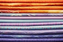 Куча красочной ткани Стоковые Фото