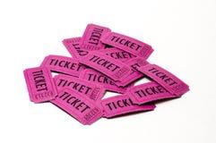 Куча красочных изолированных билетов Стоковые Фотографии RF